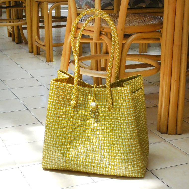 TOKO Large Recycled Tote Bag, in Mustard Yellow (6-9 days)