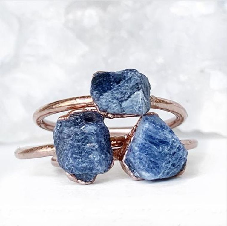 Raw Sapphire Stacking Ring