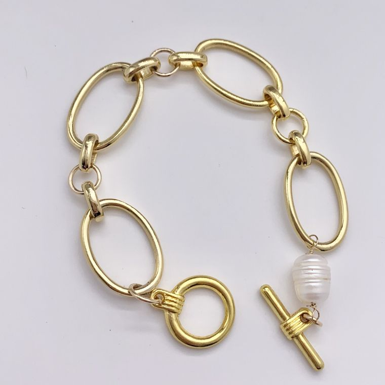 Gold Chain Stacking Bracelet