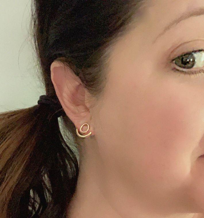 Half Moon Gold Ear Jacket Earrings