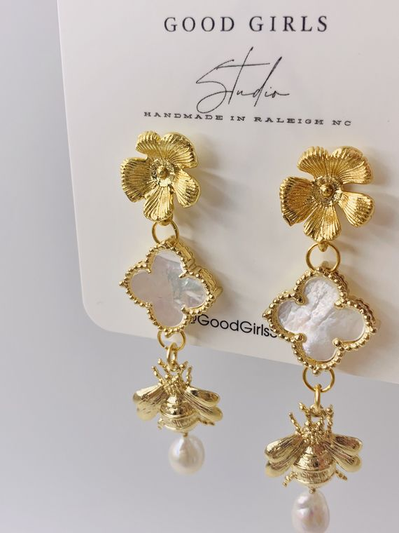 Pollinator Bee Earrings
