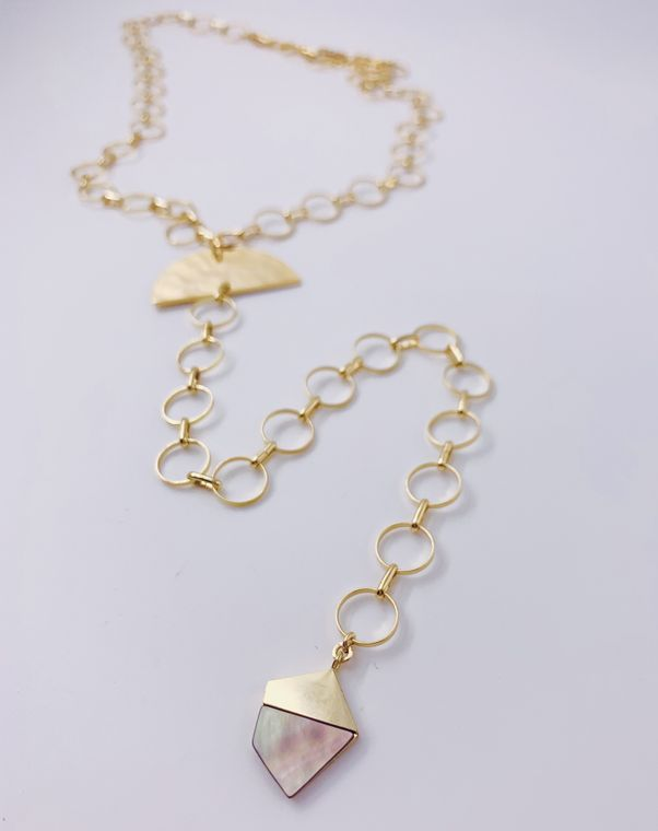 Abalone Charm Y Necklace