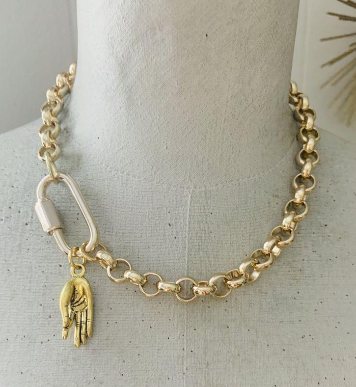 Meditation Hand Carabiner Necklace