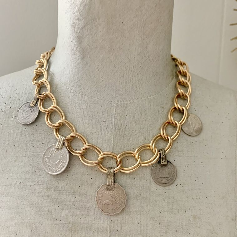 Wanderlust Coin Charm Necklace