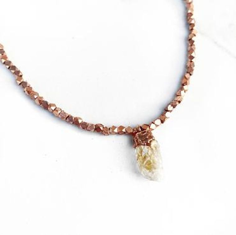 Citrine Beaded Gemstone Nugget Choker