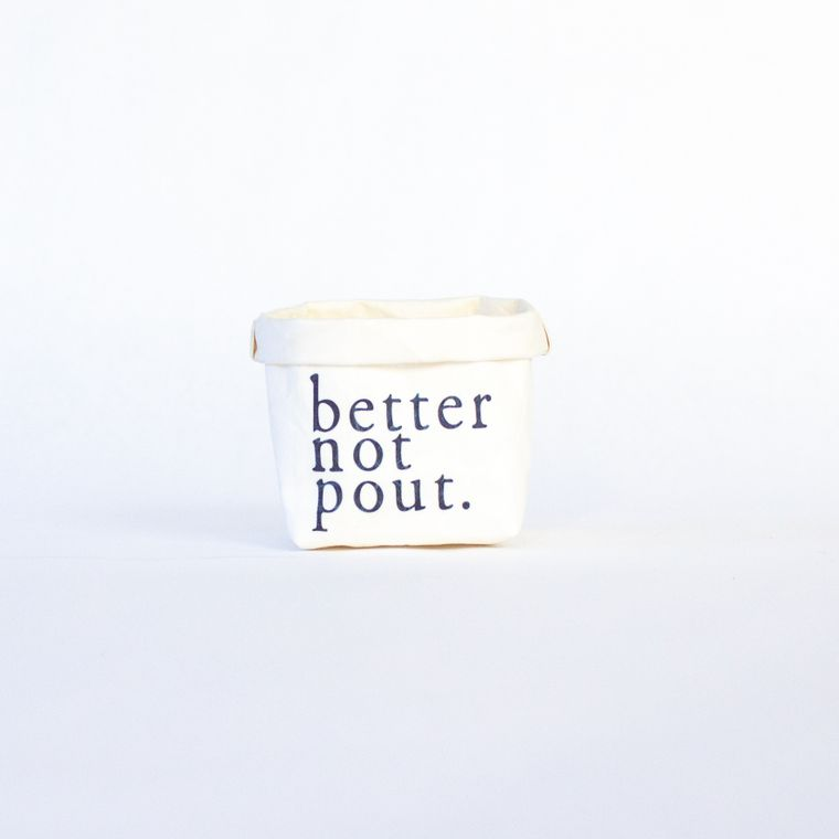 Better Not Pout Mini Tiered Tray Paper Leather Pot