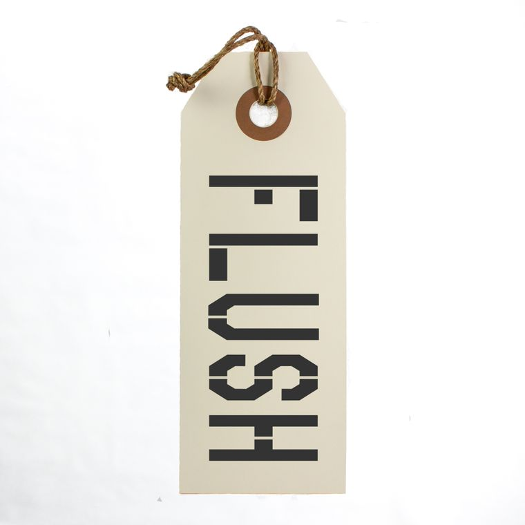 Flush Hang Tag Sign With Rope Hanger Large