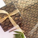 Gatsby Black Hand Block Printed Gift Wrap