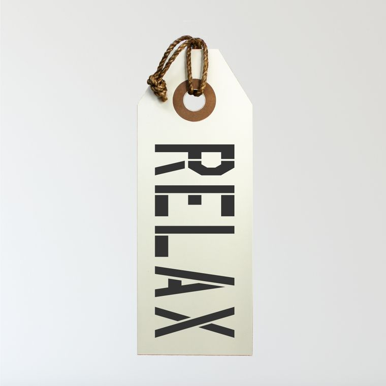 Relax Hang Tag Sign With Rope Hanger Medium