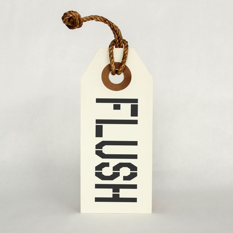 Flush Hang Tag Sign With Rope Hanger Small