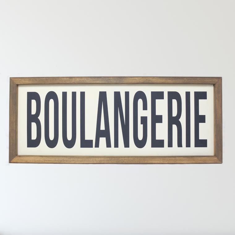Boulangerie Framed Sign