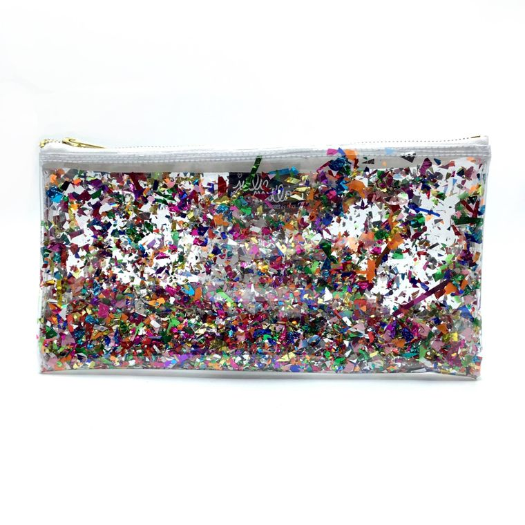 Clear Confetti Clutch!