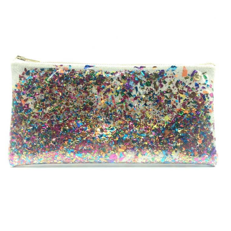 White Confetti Clutch!