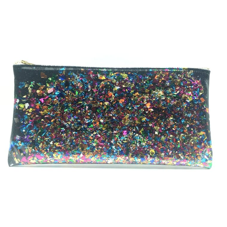 Black Confetti Clutch!