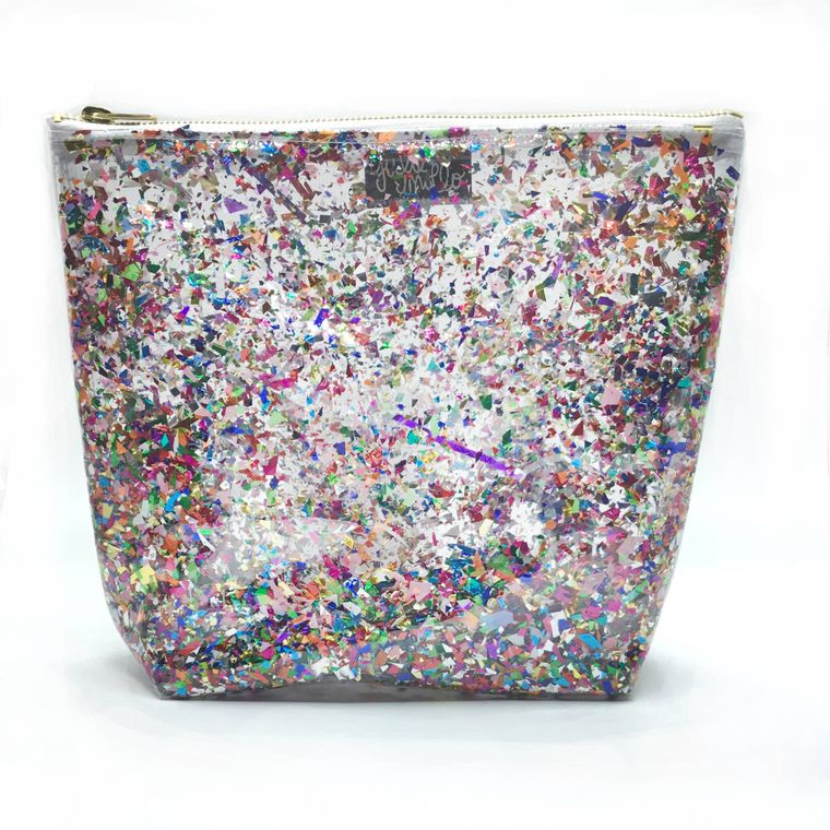 Clear Confetti Travel Bag!