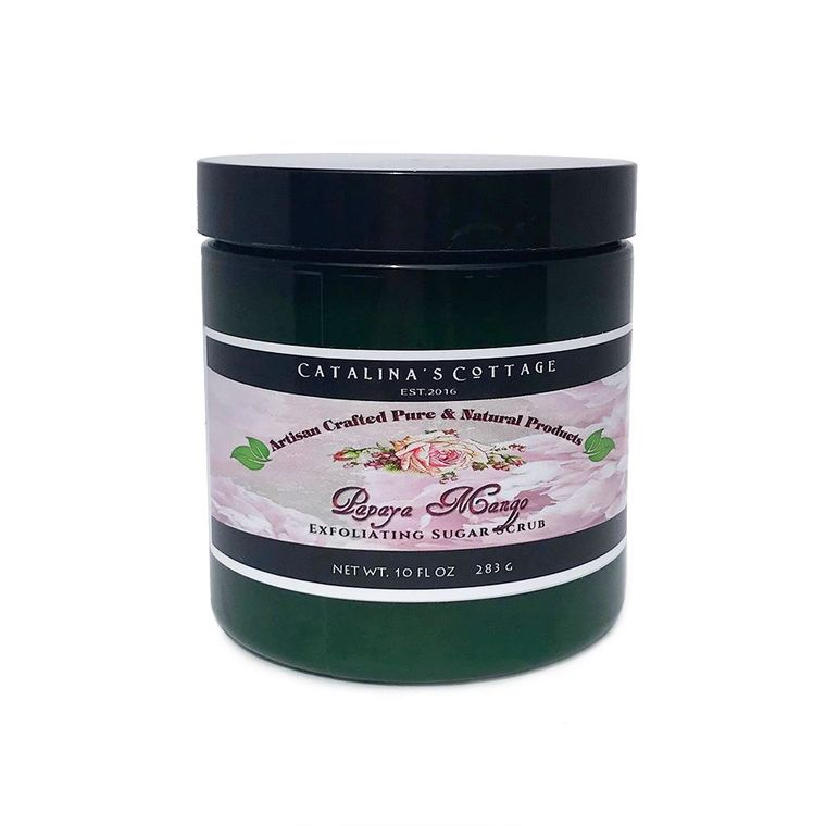 SUGAR SCRUB - Papaya Mango (NET WT 10 OZ)
