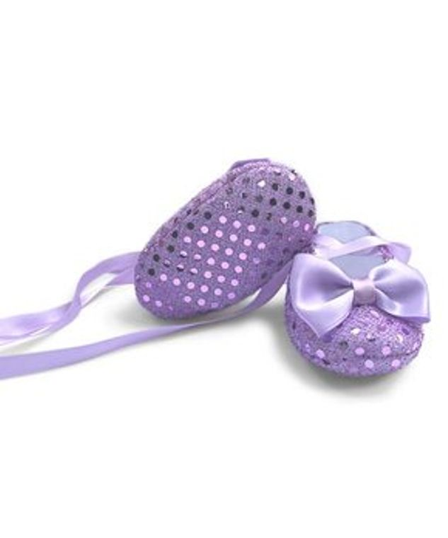 Musgravite Light Purple Baby Shoes Newborn 3-6 months old  shoes soft sole lace-up Sequined