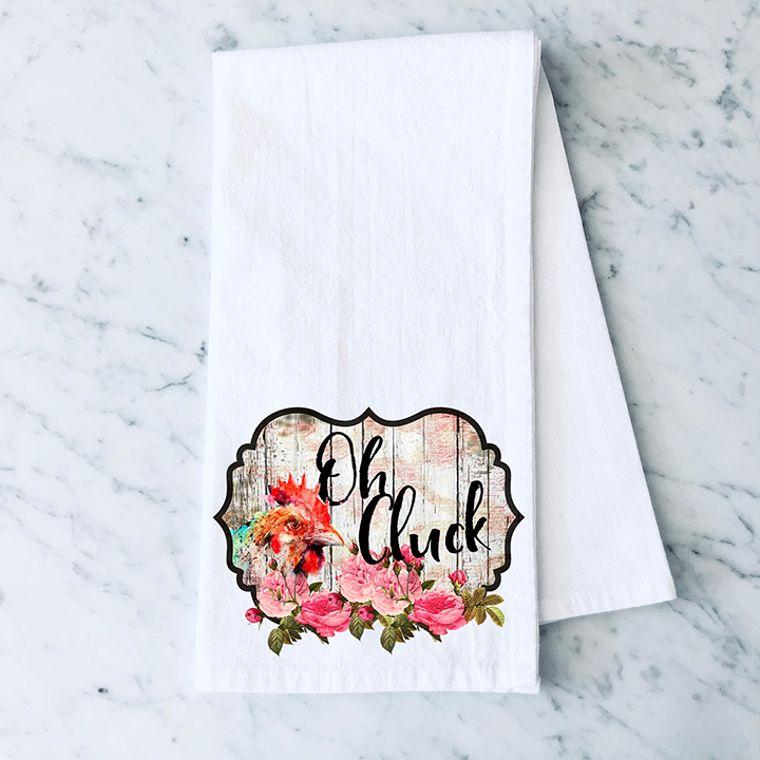 Oh, Cluck Chicken Cotton Flour Sack Towel