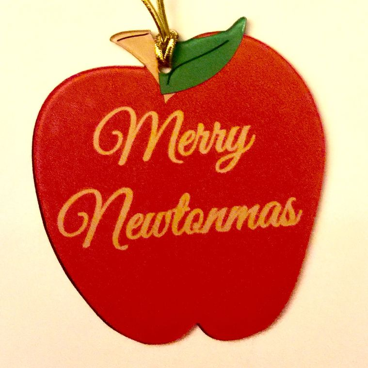 Merry Newtonmas Holiday Ornament