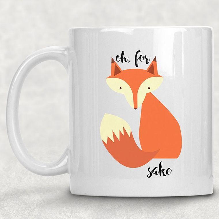 Oh for Fox Sake Funny Adult Themed 11 oz. Mug