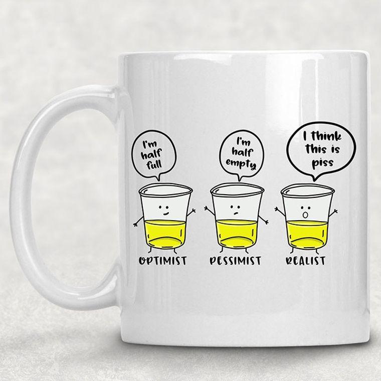 Glass Half Full Funny Adult Themed 11 oz. Mug