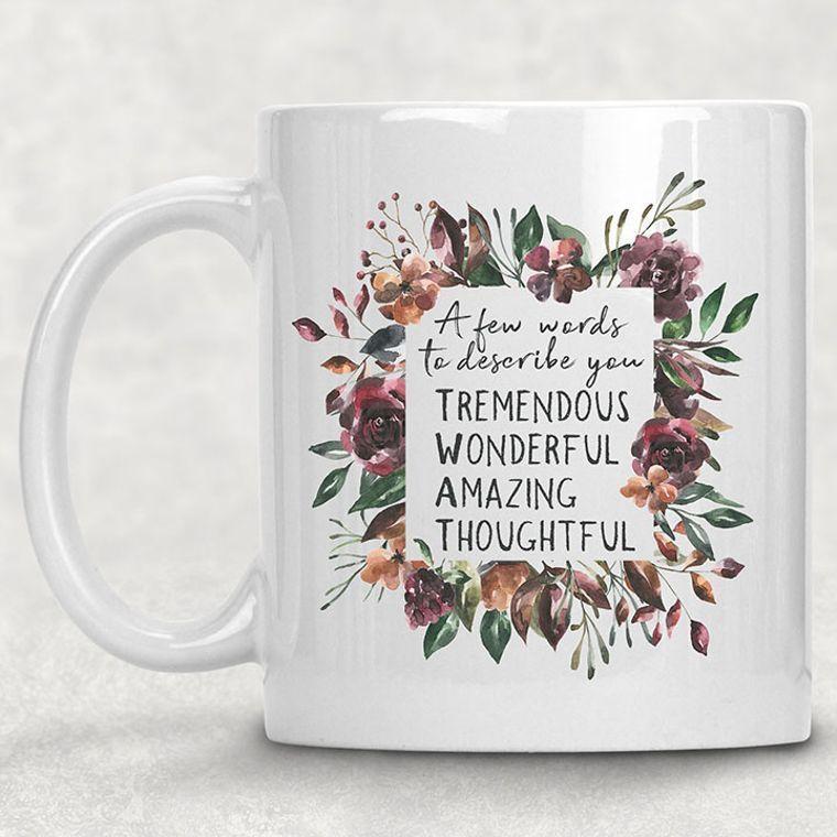 Floral Wreath T-W-A-T Funny Adult Themed 11 oz. Mug