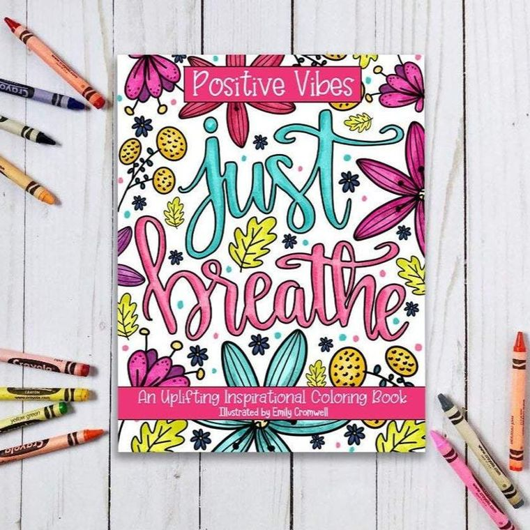 Positive Vibes Inspirational Coloring Book
