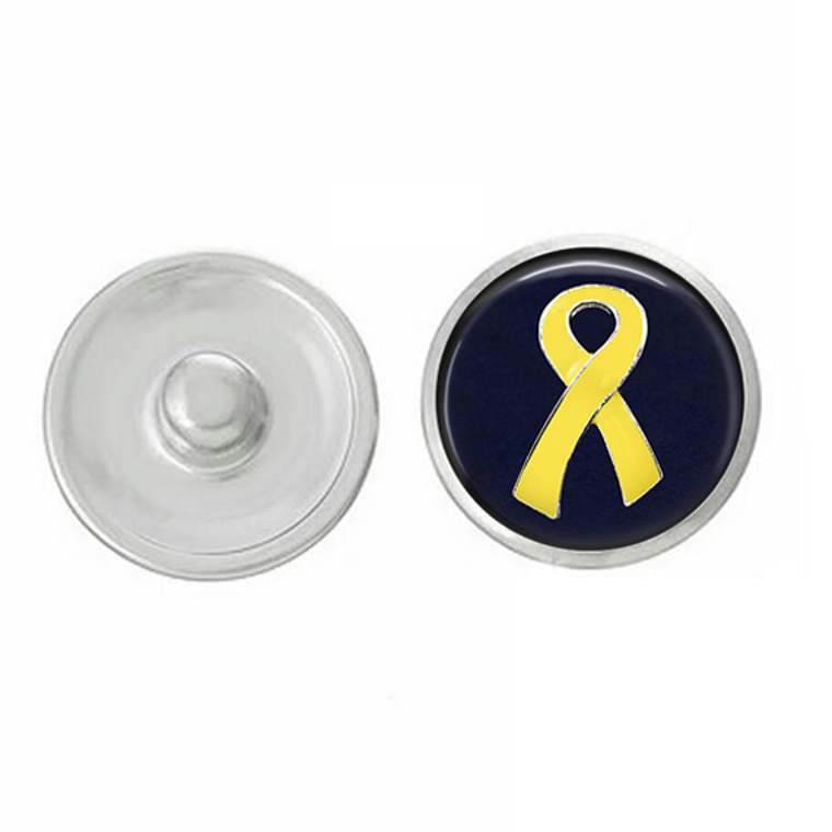 USA - Yellow Ribbon - Support Our Troops - Snap Jewelry