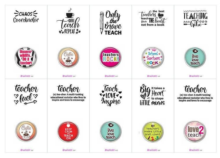 Say It In A Snap - Teacher Education Themed Card  with Snap