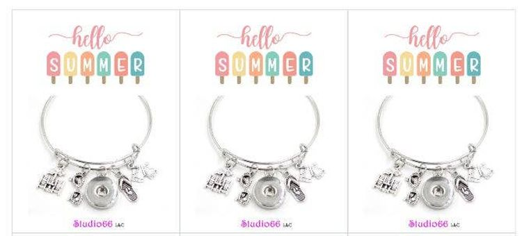 Say It In A Snap - Charm Bracelet w/Cards