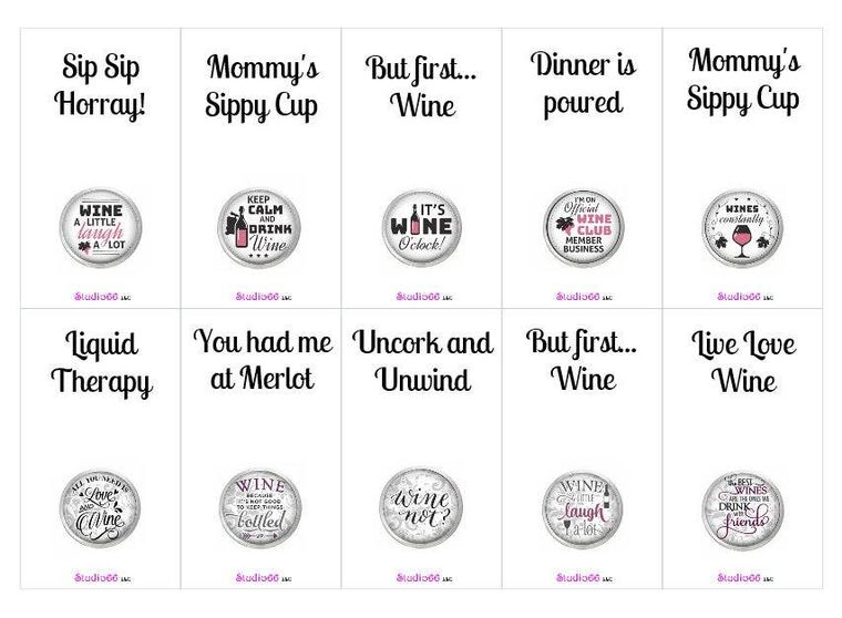 Say It In A Snap - Wine ThemedCard with Choice of Snap