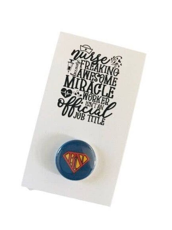 Say It In A Snap - Nurses Are Awesome Card with Snap