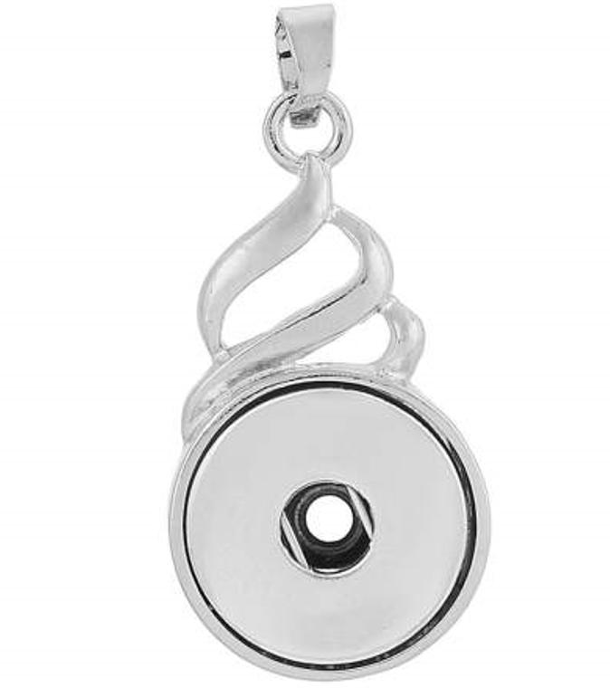 Pendant - Twist Drop - Snap Jewelry