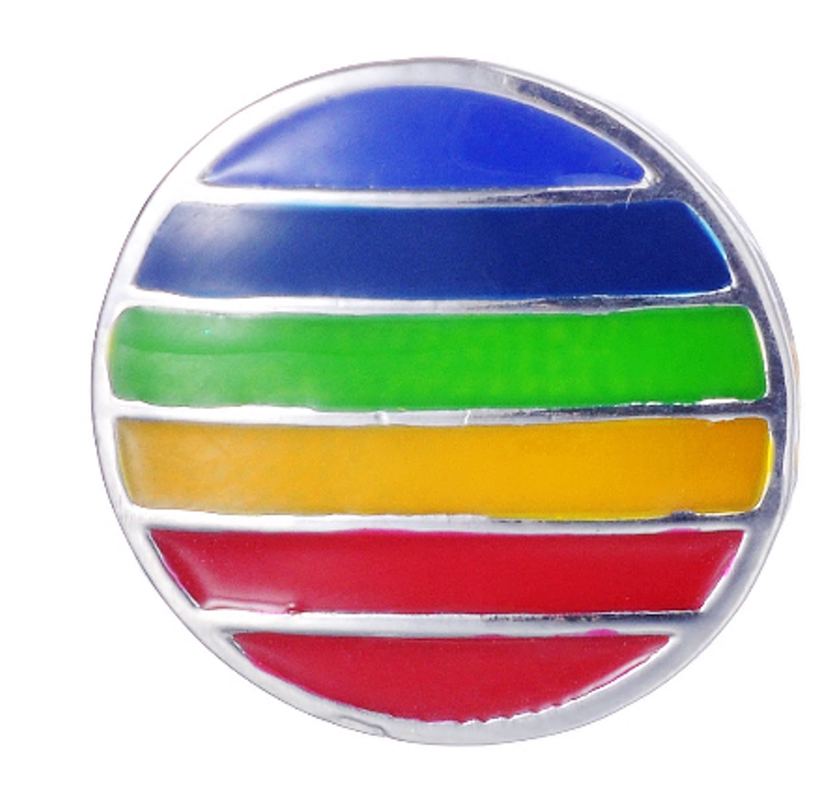 Snap - Rainbow Enamel Style Snap - For Snap Jewelry