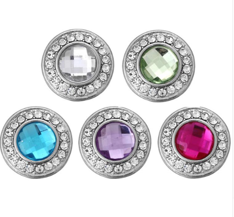 Sparkle Snaps -  Rhinestone - 5 Pk - Snaps for Snap Jewel