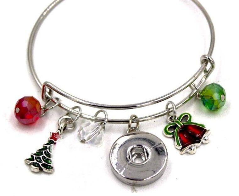 Bracelet  Bangle - Holiday - Christmas Themed Bangle Bracele