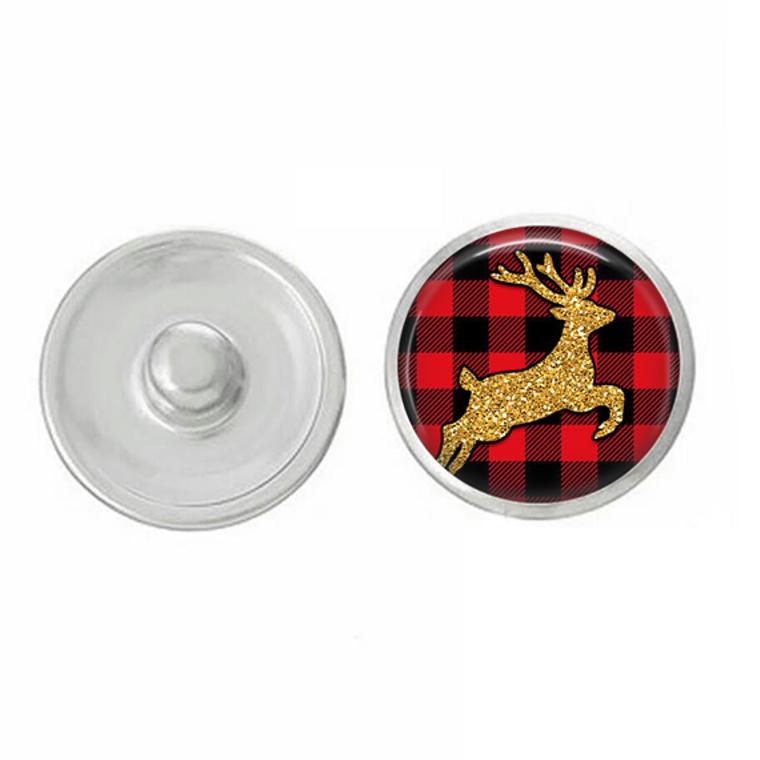 Christmas - Winter Holiday - Buffalo Plaid - Snap Jewelry