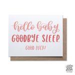 Goodbye Sleep Pink, Baby Card