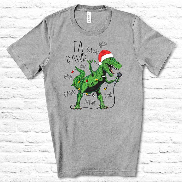 Fa Rawr Rawr T-Rex Funny Christmas T-Shirt
