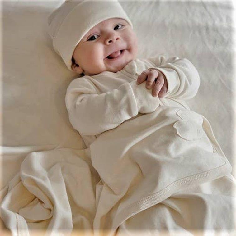 Nature's Hug: Unisex Organic Baby Swaddle/Blanket - Unbleached and Undyed