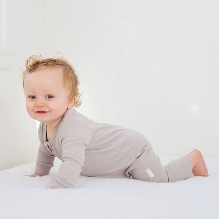 Nerdy Baby: Organic Baby Unisex Romper/Jumpsuit-Plain Grey