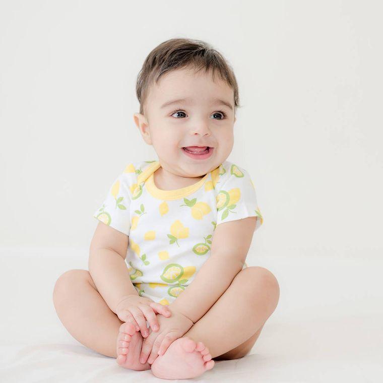 Citrus Garden:  Printed Unisex Organic Baby Bodysuit