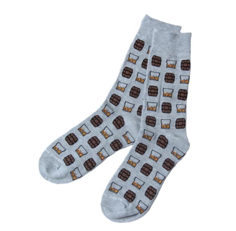 Grey On The Rocks Socks