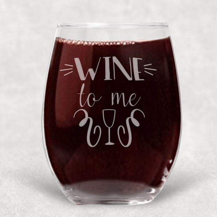 Wine to Me Engraved Stemless Wine Glass - 21 oz.