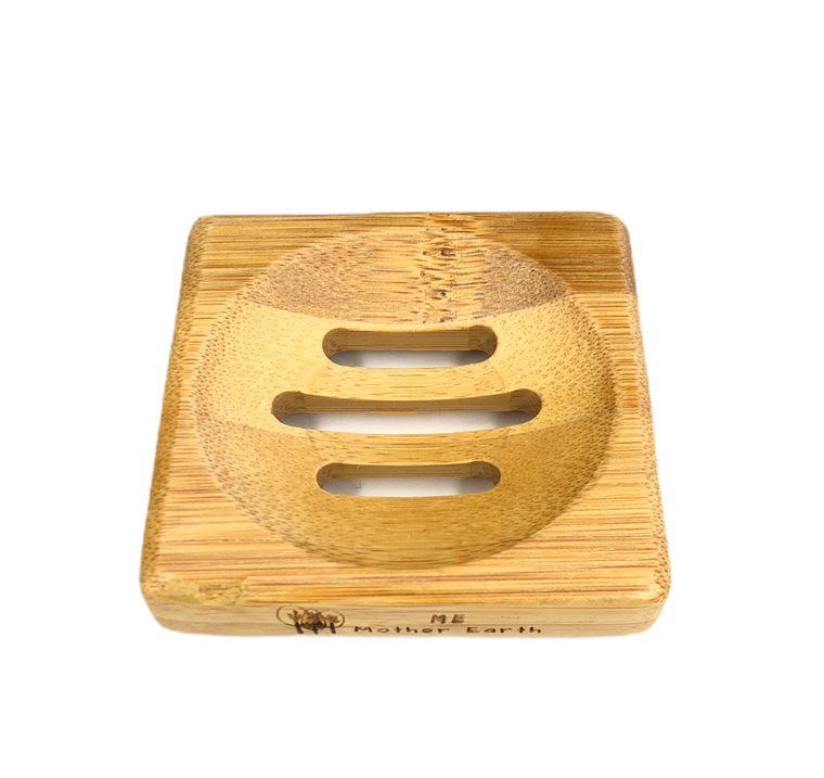 Mini Square Bamboo Soap Dish