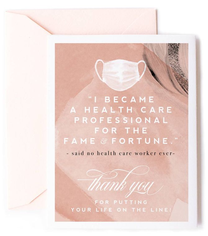 Fame & Fortune, Health Care Worker Thank You Card