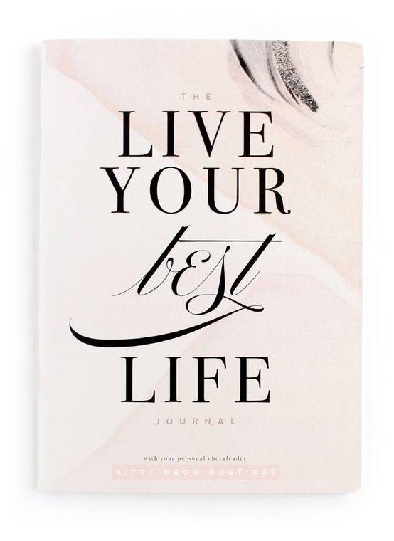 Live Your Best Life - Blush, Inspirational Notebook