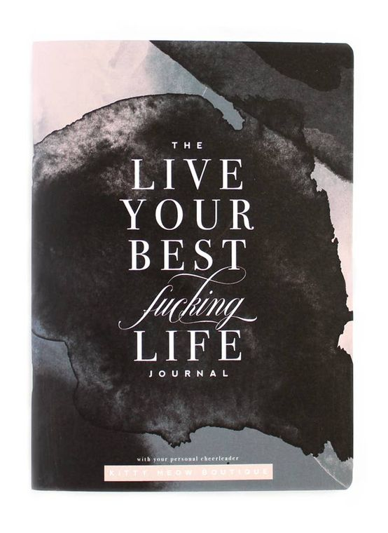 Live Your Best F-ing Life, Watercolor Inspirational Notebook