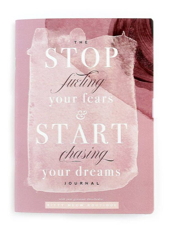 Stop Fueling Your Fears, Rose -  Inspirational Notebook,