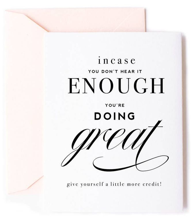 You're Doing Great - Friendship and Encouragement Card